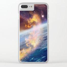 Cosmic fire Clear iPhone Case