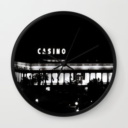 Black & White-Casino Wall Clock