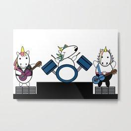 Unicorn Kawaii Punk Band Metal Print