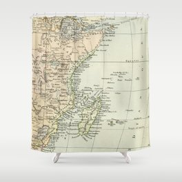 Vintage Map of Africa Shower Curtain