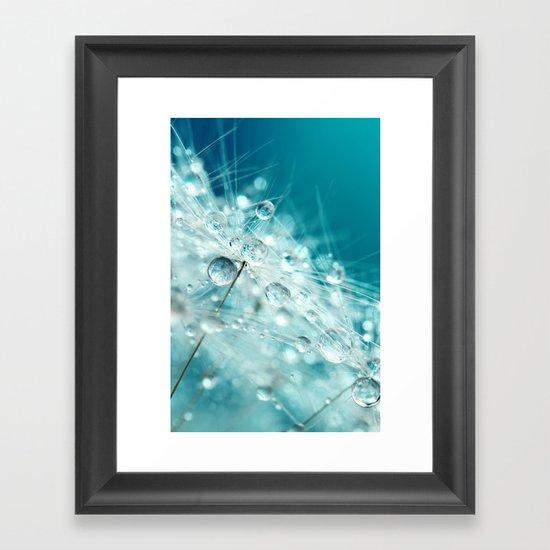 Dandy Starburst in Blue Framed Art Print