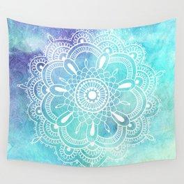 Galaxy Mandala - Watercolor Wall Tapestry