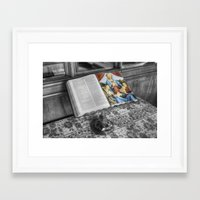 bible Framed Art Prints featuring The Bible by Ian Mitchell