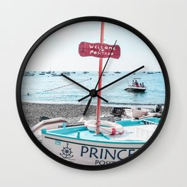 Welcome To Positano Wall Clock
