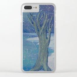 Night Snow Clear iPhone Case