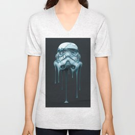 Stormtrooper Melting Dark Unisex V-Neck