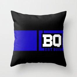 BQ - Flagging Navy Blue Throw Pillow