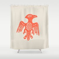 eagle Shower Curtains featuring Eagle  by Crazy Cool Animals