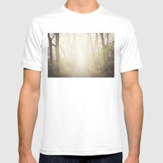 Into the Abyss  MEDIUM White Mens Fitted Tee
