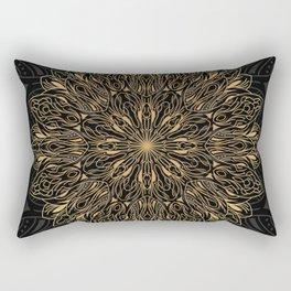 MANDALA IN BLACK AND GOLD Rectangular Pillow