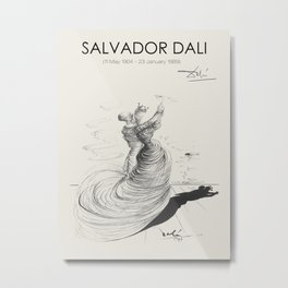 Vintage poster-Salvador Dali-Pencil drawing-Dance. Metal Print