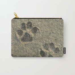 Forever Paw Prints in the Sand Carry-All Pouch