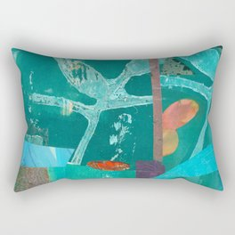 Turquoise Repeat Rectangular Pillow
