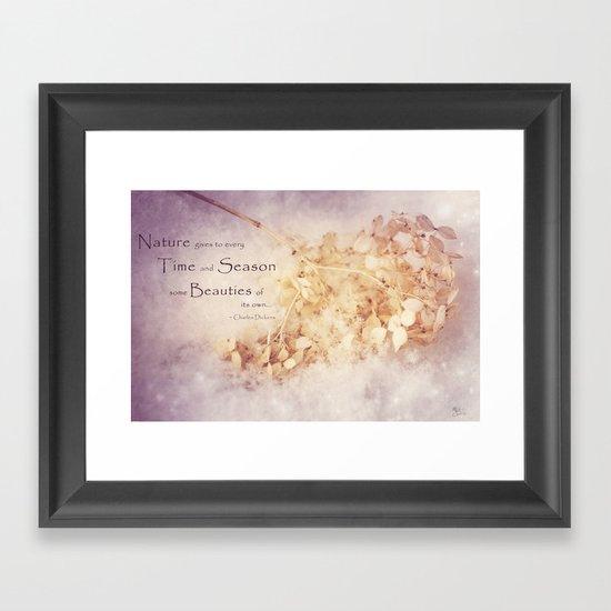 Season's Beauty Framed Art Print