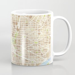 Washington DC watercolor city map Coffee Mug