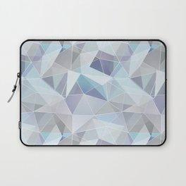 Broken glass in blue. Laptop Sleeve