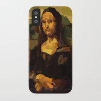 mona lisa iPhone & iPod Cases featuring Mona Lisa by Robert Morris