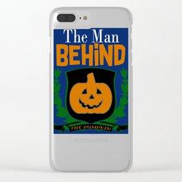 Man Behind the Pumpkin Halloween Design Clear iPhone Case