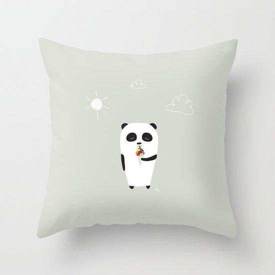 The Happy Ice Cream Throw Pillow