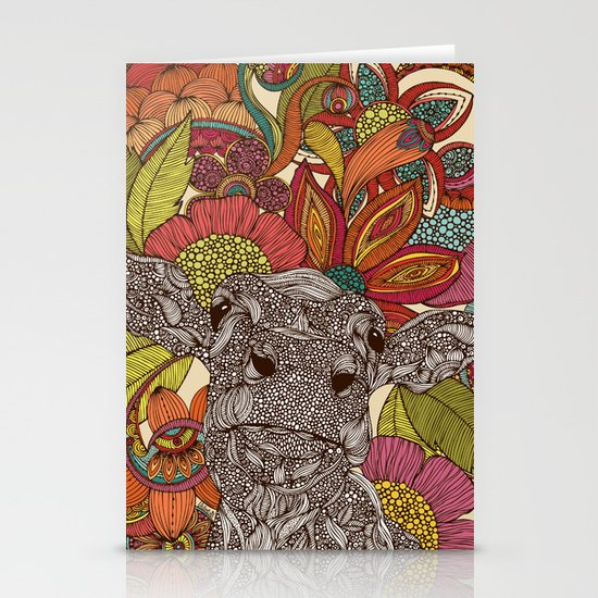 Arabella and the flowers Stationery Cards