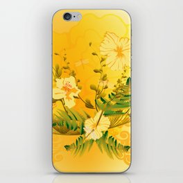 Wonderful soft yellow flowers iPhone Skin
