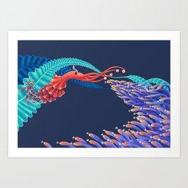 Dancing monster Art Print