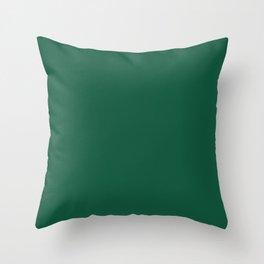 Teal The World (Green) Throw Pillow