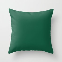 Teal The World (Green) Throw Pillow