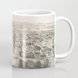 Vintage Pictorial Map of Rochester NY (1854) Coffee Mug