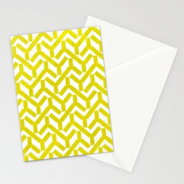 Yellow Geometry Pattern Stationery Cards