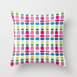 color swatch Throw Pillow