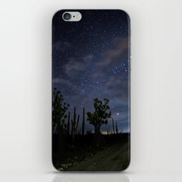 Stars over the desert iPhone Skin