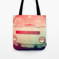 volkswagon Tote Bags featuring VW Love. by Jennifer DeBarros