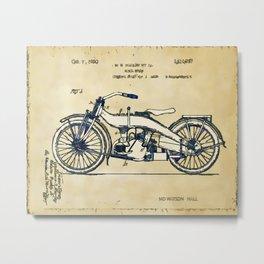 HD Motorcycle Patent - Circa 1924 Metal Print