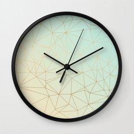 Pastel Geometric Minimalist Pattern Wall Clock