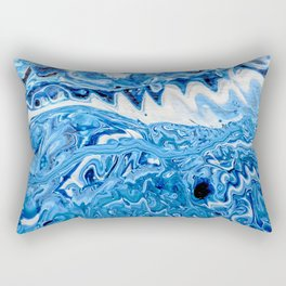Blue Teeth Rectangular Pillow
