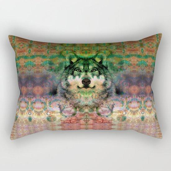 Desert Wolf Rectangular Pillow