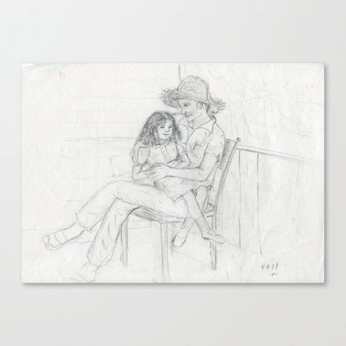 Abuelo love Canvas Print