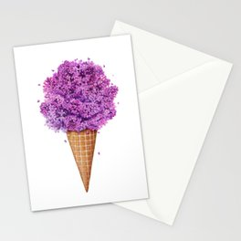 Ice cream with lilac Stationery Cards
