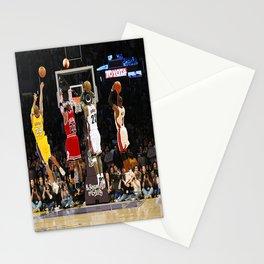 Michae-l Jordan ,Ko-be Bryant ,LeBron Jam-es Dunk championship Stationery Cards