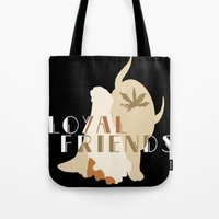appa Tote Bags featuring Loyal Friends by JackiesGamingArt