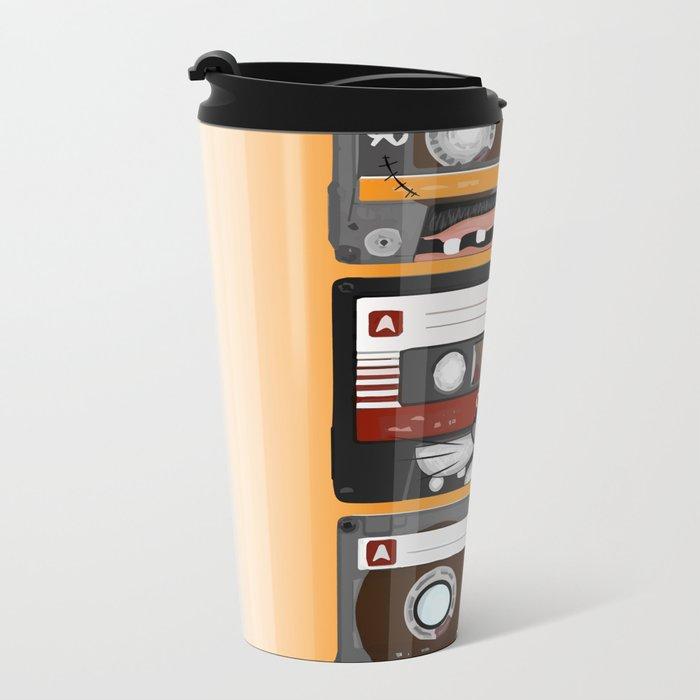 The cassette tape Metal Travel Mug