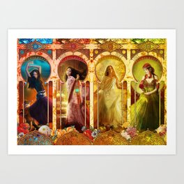 Joy Faith Hope and Love Art Print