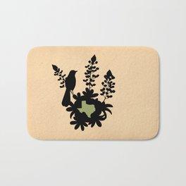 Texas - State Papercut Print Bath Mat