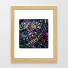 Galaxy Mandala Framed Art Print