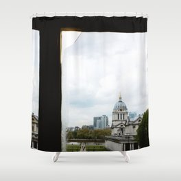 View from the Queen's House Shower Curtain