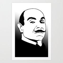 Hercules Poirot. Art Print