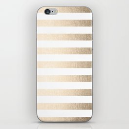 Simply Striped in White Gold Sands iPhone Skin