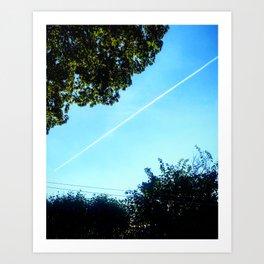 Jet in Sky Art Print