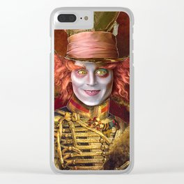 Mad Hatter General Portrait Painting Fan Art Clear iPhone Case